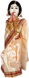 Handmade Traditional Costume Doll India Welcome Namaste