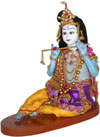 Ethnic Krishna Doll - Indian Art Craft Handicraft Traditional Figure