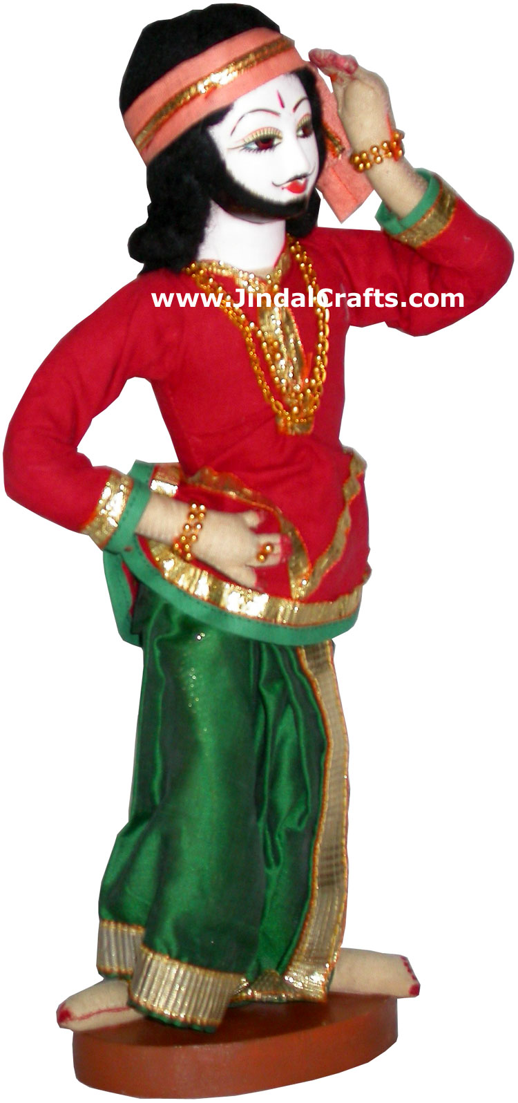 Handmade Traditional Indian Collectible Costume Doll Home Decor Artifact Figure