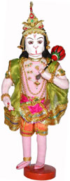 Hanumaan Handmade Traditional Indian Hindu Religious Collectible Costume Doll