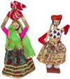 Handmade Traditional Dolls India Art - Village Couple