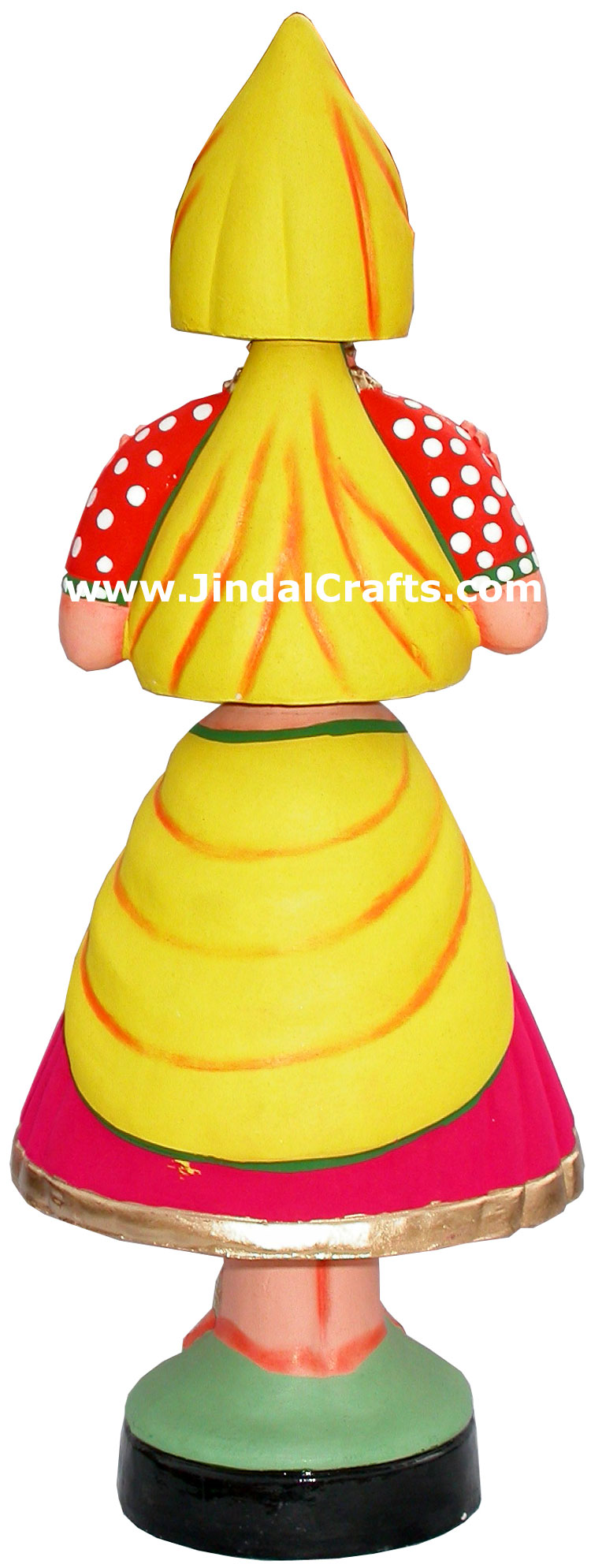 Dancing Doll Clay Made Colourful Handmade India