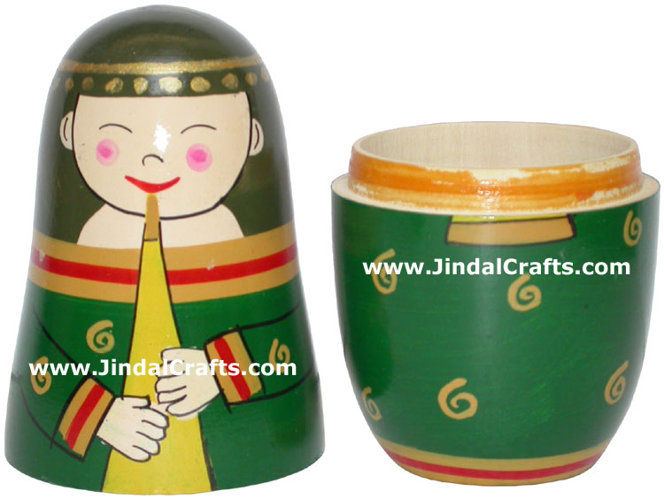 Nested Dolls - Handmade Wooden India Dolls Art