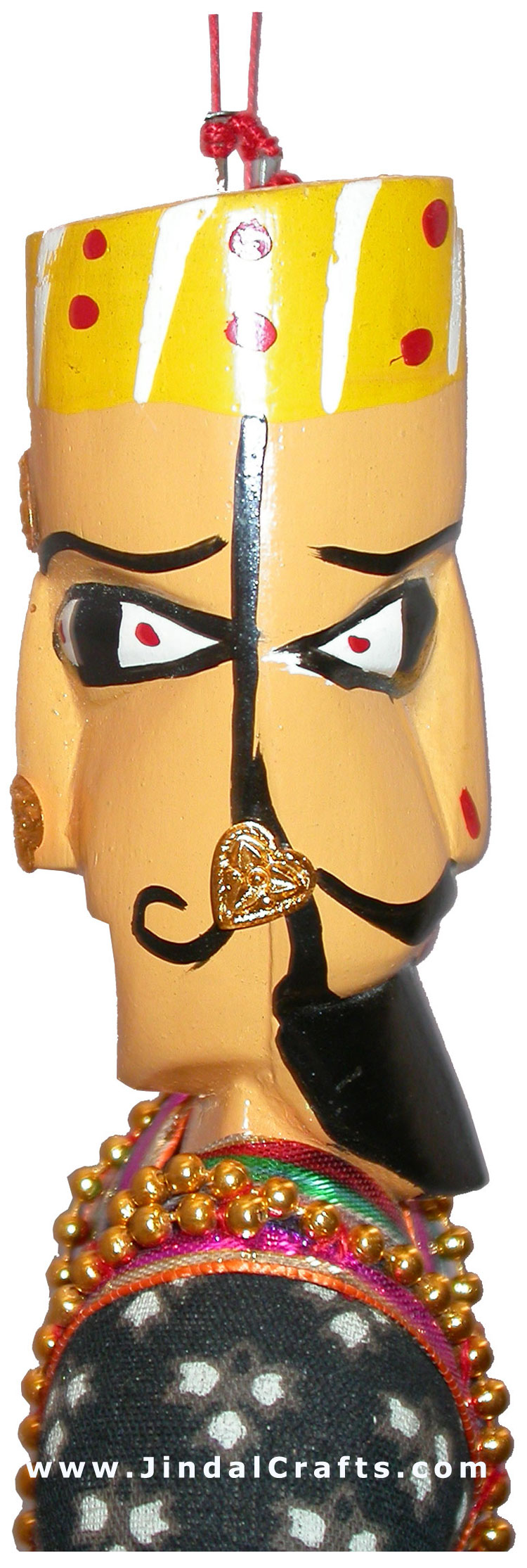 Handmade Double Face King - Queen Puppet India Folk Art