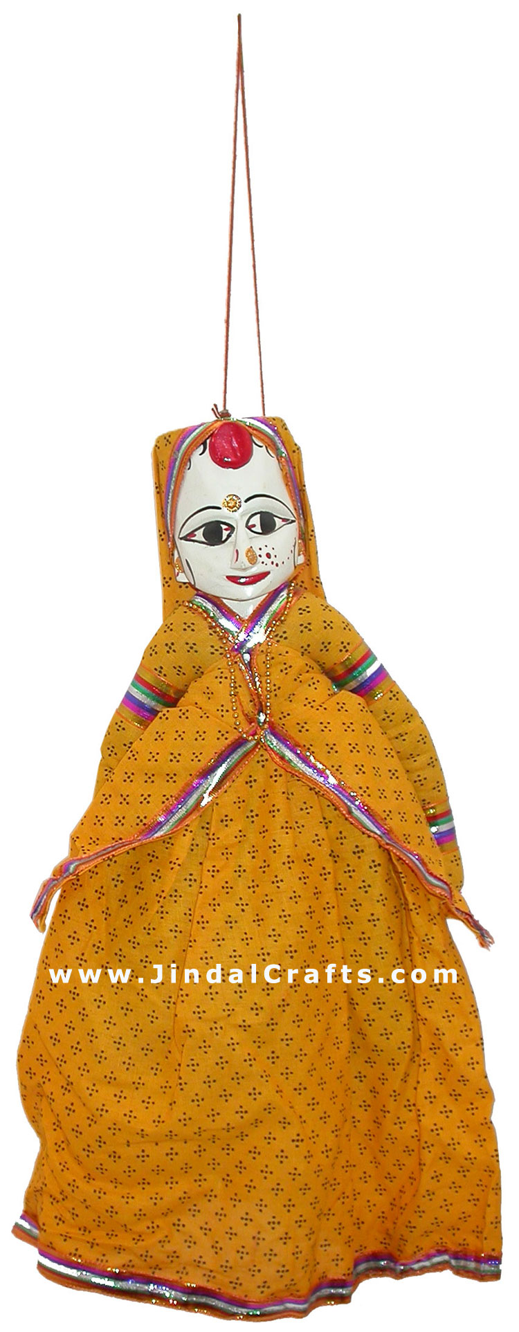 Handmade Wooden Puppet Pair of King and Queen India Folk Art Royal Dancing Dolls