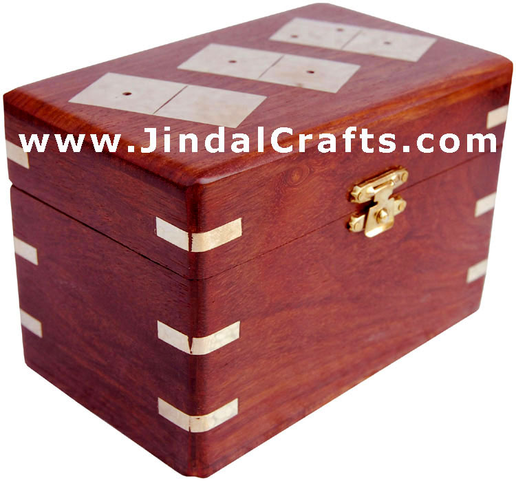 Double Six Domino Box - Indian Traditional Wooden Game