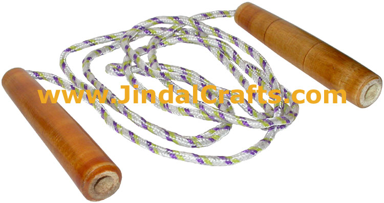 Lacquered Polished Wooden Skipping Rope Jump Rope Health Fitness Exercise India