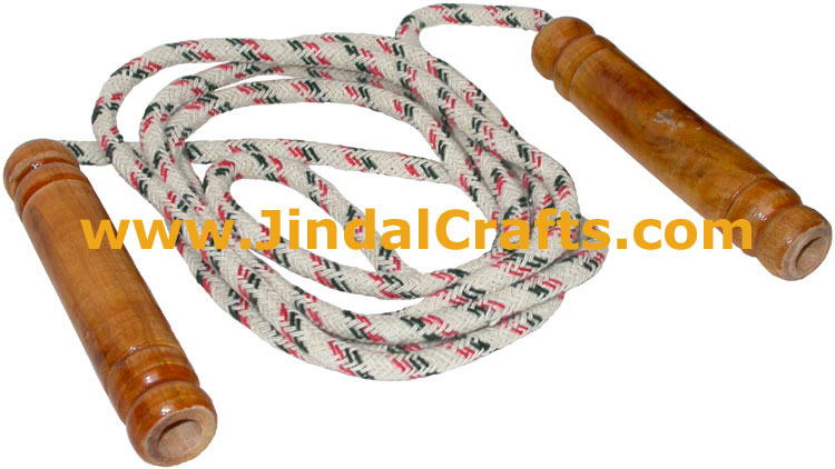 Lacquered Polished Wooden Skipping Rope