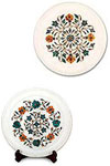 These plates make excellent gifts, and are intended for decorative use only. Each plate is hand turned and has its own distinct shape and characteristics. These plates are made from different type of stones. Specialty of some plates are carving while othe